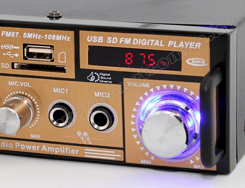 Karaoke erősítő és hangfal szett mikrofonnal USB/SD MP3 lejátszóval MM-004-Karaoke1