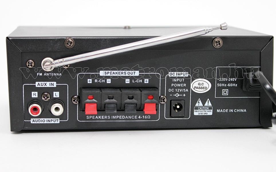 Mozgóbolt kihangosító szett MP3 USB lejátszóval és mikrofonnal, Mlogic MM004+2XLP30W-MIC15