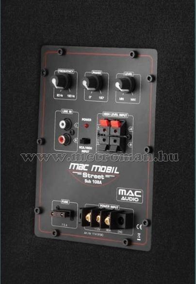 Aktív autós mélyláda, mélynyomó, macAudio Mac Mobil Street Sub 108A