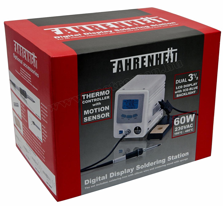 Digitális forrasztóállomás mozgásérzékelővel, Fahrenheit 28012