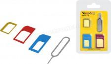 Micro, Nano SIM kártya átalakító adapter csomag ET4