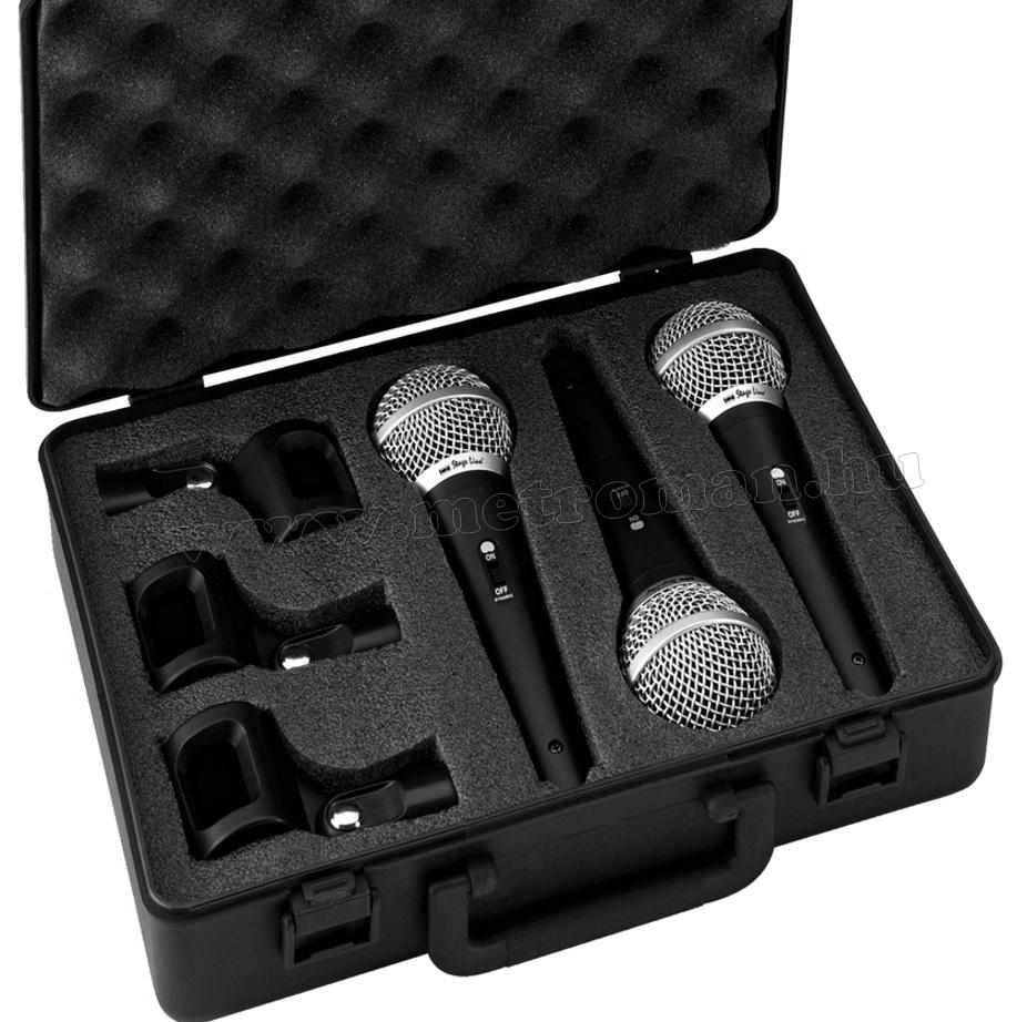 StageLine DM-3SET, 3 db-os dinamikus mikrofon szett
