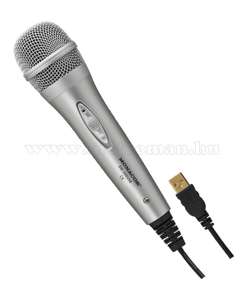 Monacor DM-500USB, dinamikus USB mikrofon
