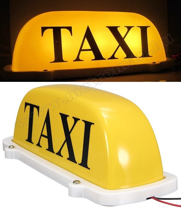 Világító Taxi lámpa, mágneses WS-1201