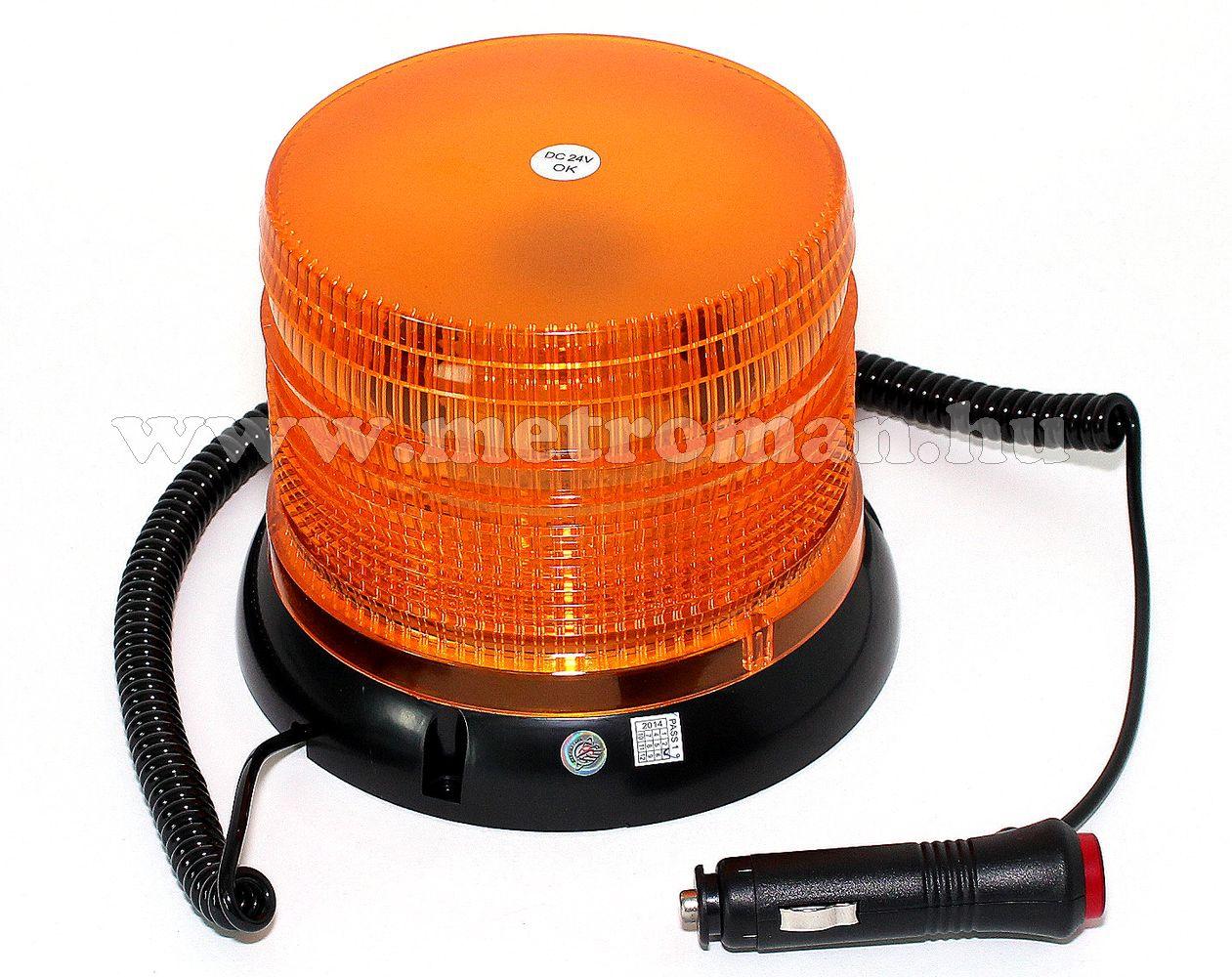 Megkülönböztető jelzés , villogó narancs LED-es, 12/24V FL-WL25 E13