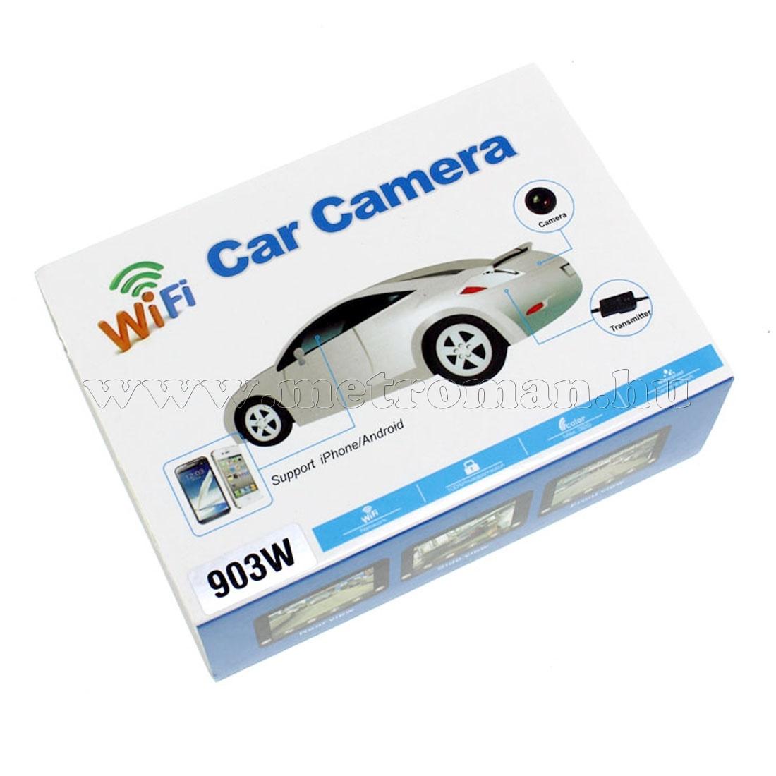 Vezeték nélküli Wifi Kamera, Tolatókamera jeltovábbító mobiltelefonhoz, Mlogic MM903W