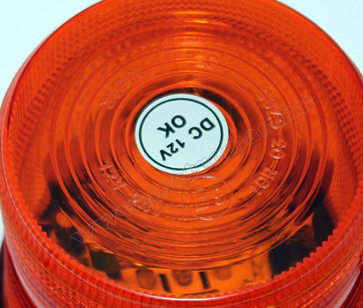 Megkülönböztető jelzés, villogó narancs, Stroboszkópos, 12V 9347