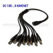 DC tápegység elosztó kábel 1 be 8 kimenettel 9675