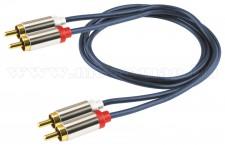 Audió kábel, 2 RCA fém dugó - 2 RCA fém dugó A3-1M