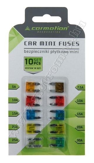 Autós mini késes biztosíték készlet AE-CM58396