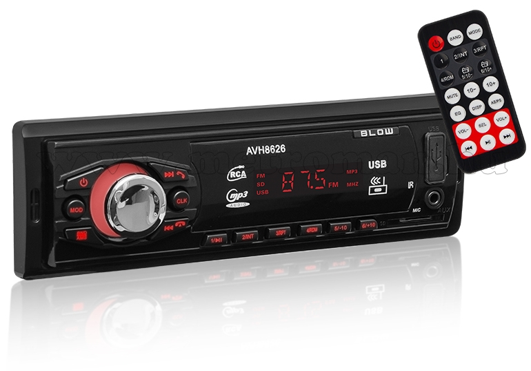 SD/USB MP3 AUX Bluetooth autórádió Blow AVH-8626 BT