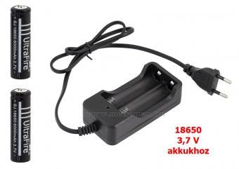 Akkumulátor töltő 2 db 18650 akkuval MJ3009-2X18650