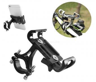 Alumínium kerékpár és motoros telefontartó, fekete MP2B