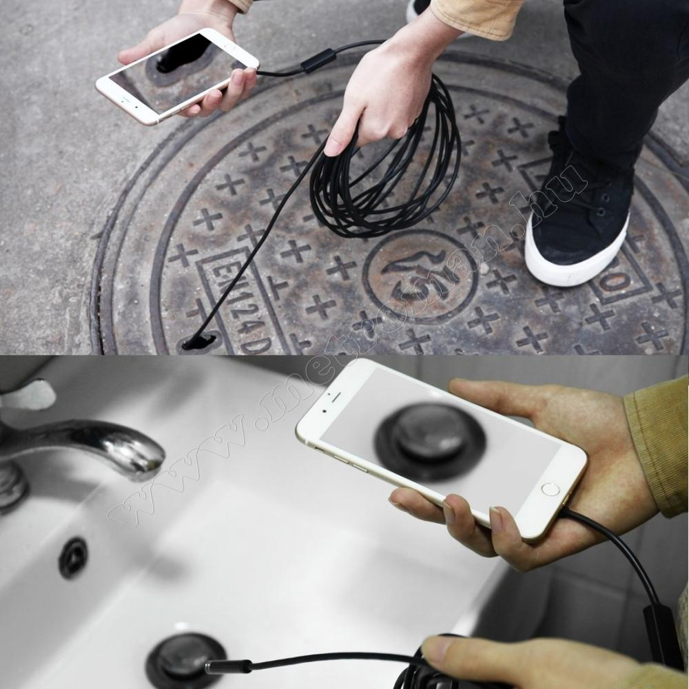 Android USB endoszkóp kamera, LED világítással, Mlogic MM-252B USB-C