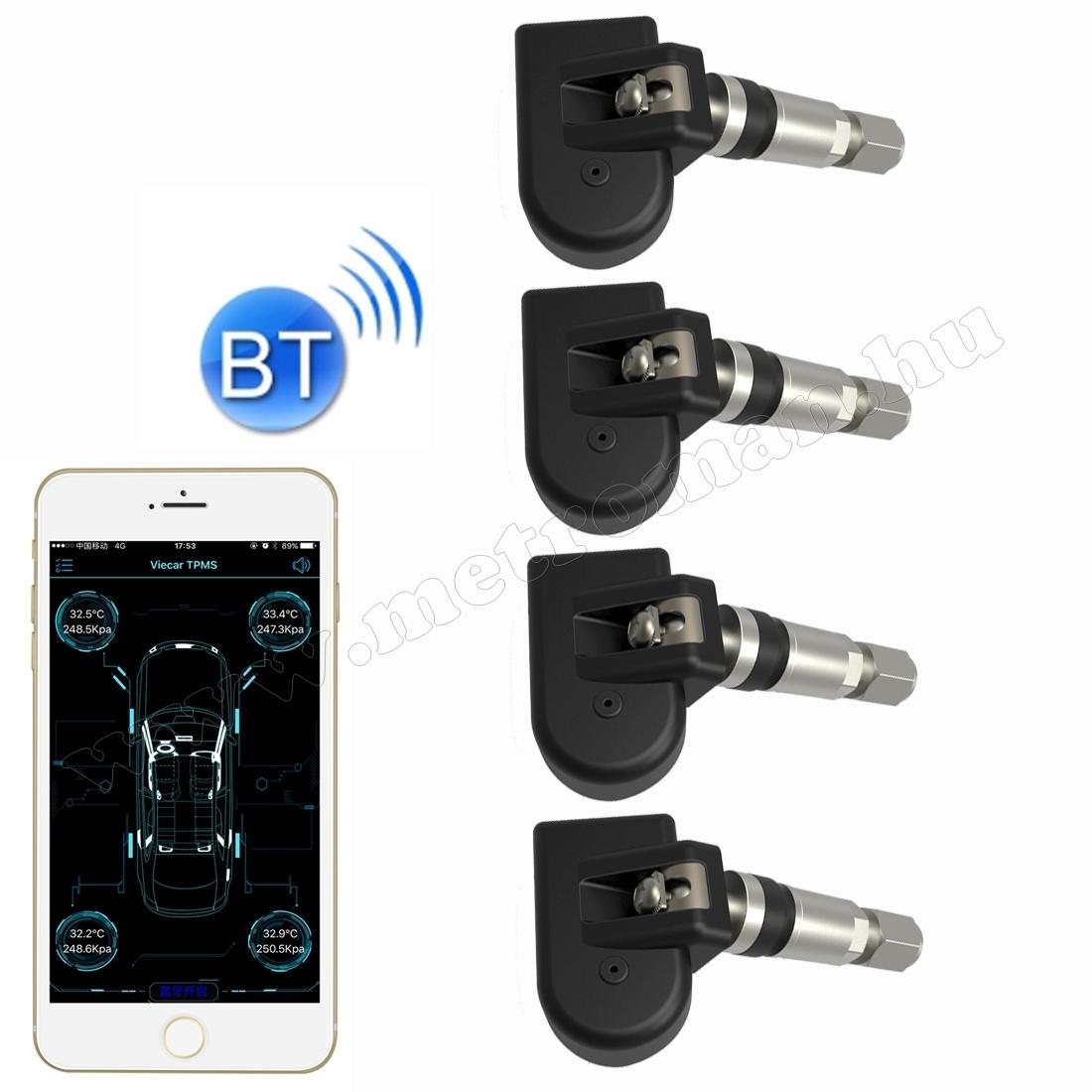 Bluetooth TPMS keréknyomás ellenőrző szett okostelefonhoz VC601