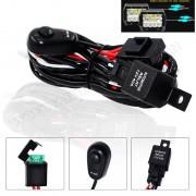Autós Reflektor, Munkalámpa, DRL kapcsoló szett 12V 180 Watt