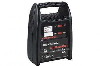 Autó akkumulátor töltő, gyors töltő 6/12 Volt 9A HB1208CS
