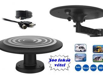 Autó, lakókocsi, lakóautó és kemping DVB-T TV antenna Mistral ANT05-B USB