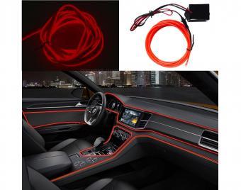 Autós 12V LED dekorszalag 2 méteres piros MG679E