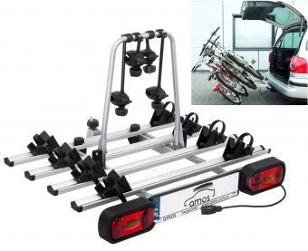 Autós kerékpártartó, kerékpárszállító vonóhorogra, Dönthető Amos GIRO-4 7PIN
