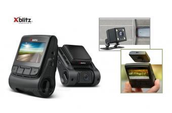 Autós kétkamerás menetrögzítő és tolató kamera Xblitz S5 DUO