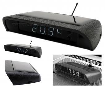 Autós napelemes digitális hőmérő és óra MM966201C-Solar