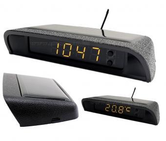 Autós napelemes digitális hőmérő és óra MM966201D-Solar