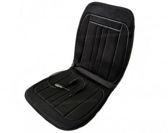 Autós ülésfűtés fűthető ülésborító fekete plüss MM045