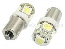 Autós LED izzó fehér, 5 db szuperfényes SMD LED-del BA9S5SMD5050