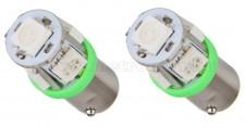 Autós LED izzó zöld, 5 db szuperfényes SMD LED-del BA9S5SMD5050Z