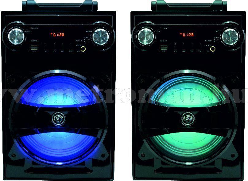 Mini hordozható karaoke szett, USB/SD MP3 Bluetooth zenelejátszóval BT 1650-M61