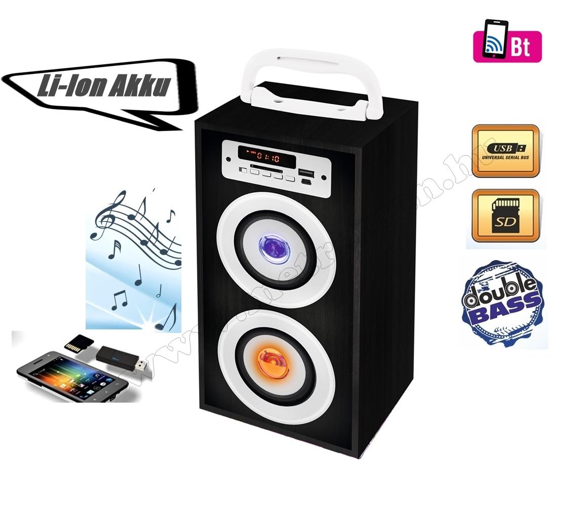 Hordozható USB/SD/MP3 lejátszó, Bluetooth multimédia hangfal FM rádióval BT2800/BK