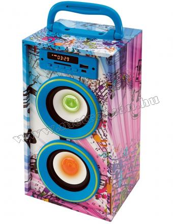 Hordozható USB/SD/MP3 lejátszó, Bluetooth Multimédia hangfal FM rádióval BT 2800/BL