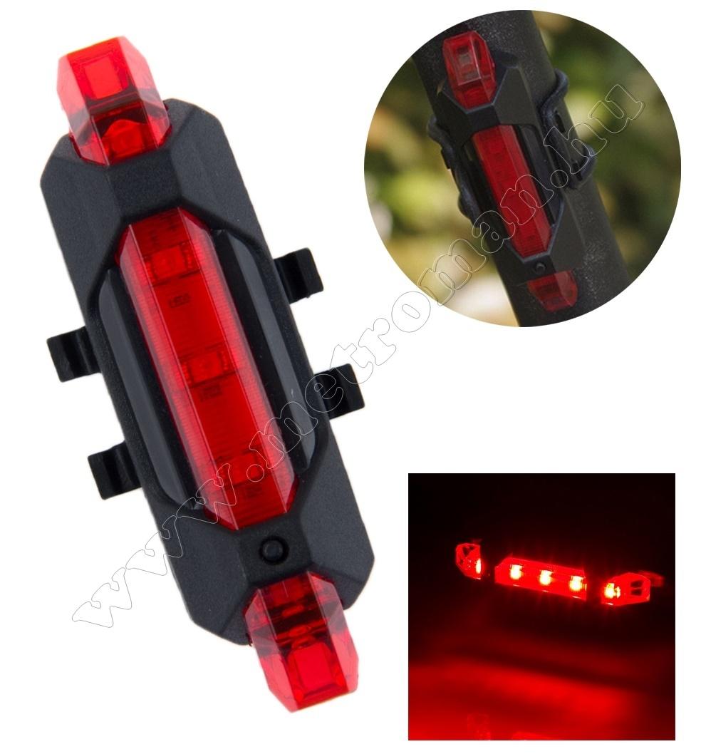 piros led bicigli lámpa