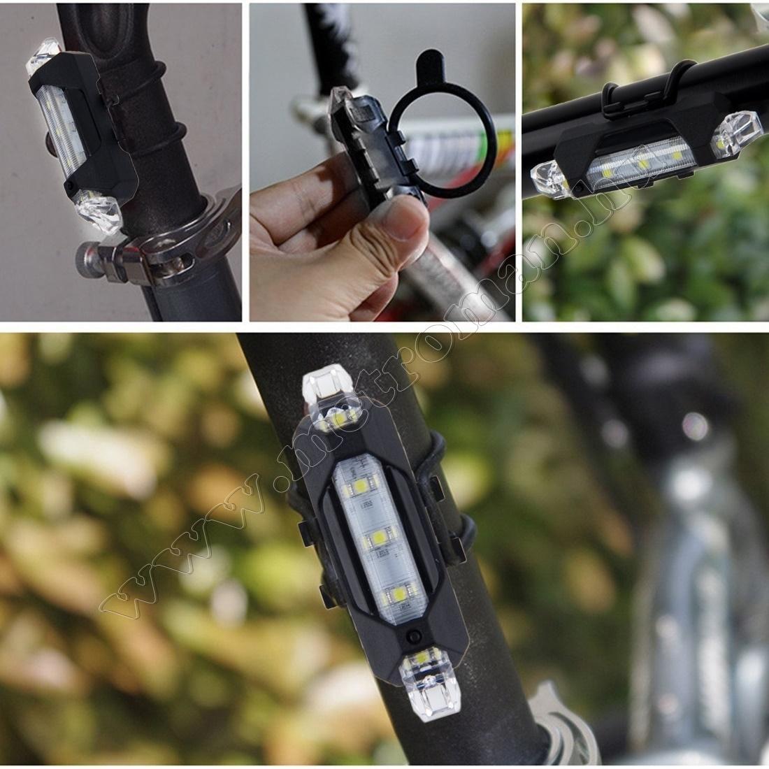Bicikli, kerékpár LED lámpa, tölthető fehér BV14WH