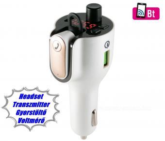 Bluetooth fülhallgató Headset Transzmitter FMBT1000