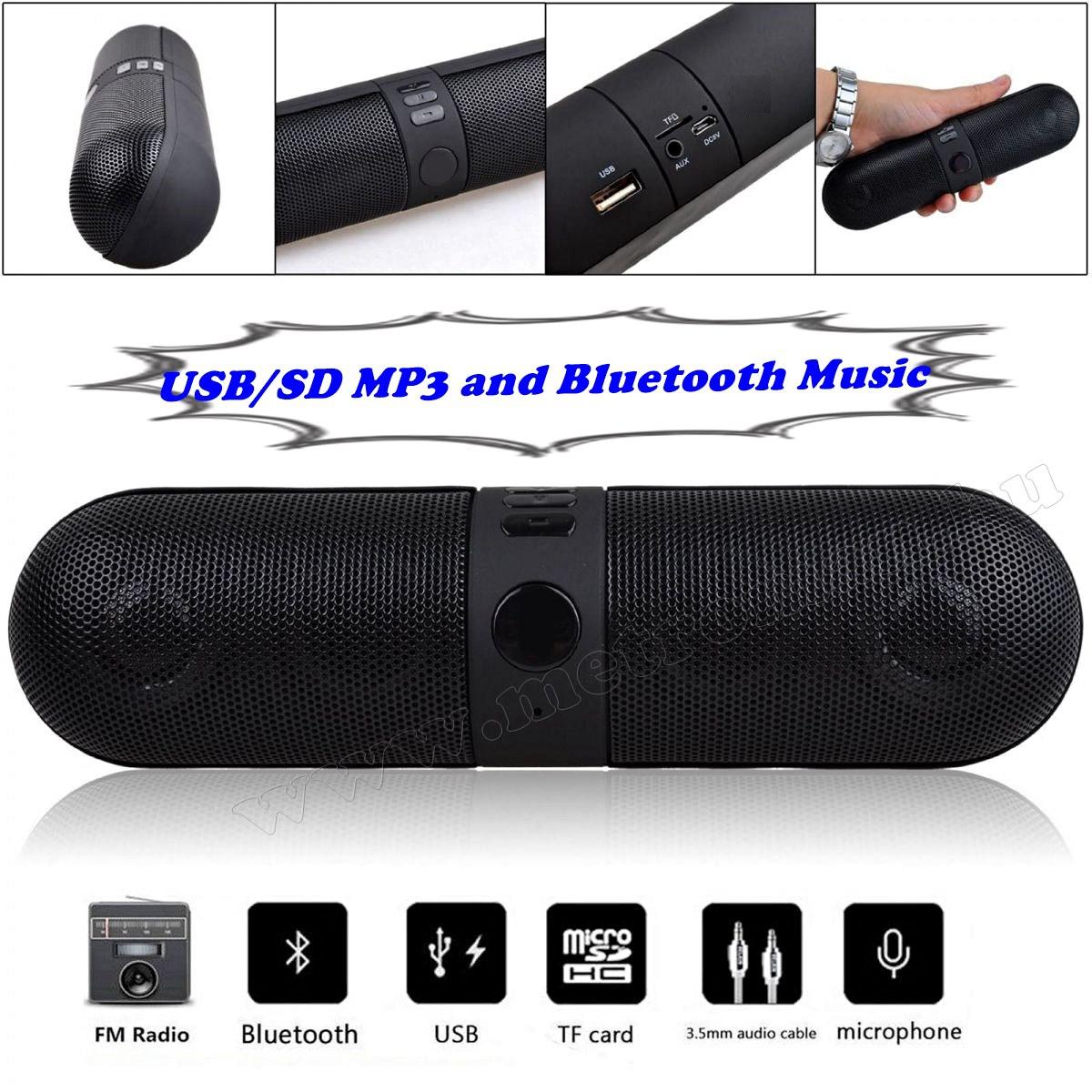 Hordozható USB/SD MP3 lejátszó és Bluetooth multimédia hangszóró Mlogic MS41
