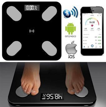Bluetooth testzsír analizáló android iPhone okos fitnesz személy mérleg Mlogic MM51LBT