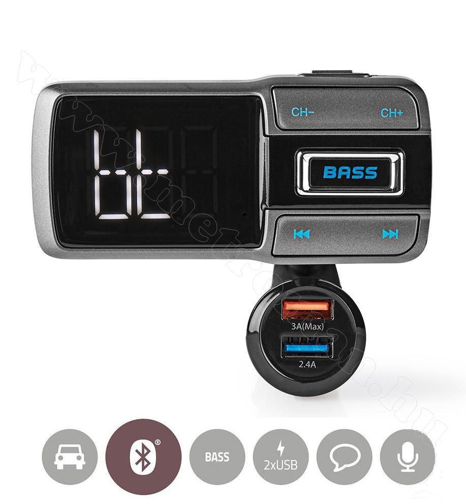 Mikro SD Bluetooth FM Transzmitter CATR101BK