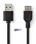 USB 2.0 kábel, 1 m, A dugó - A aljzat CCGP60010BK10