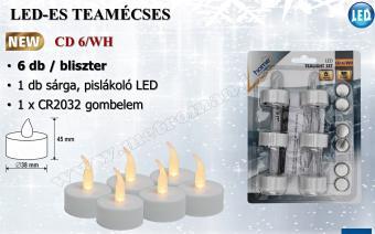 LED teamécses CD 6/WH, 6 darabos szett