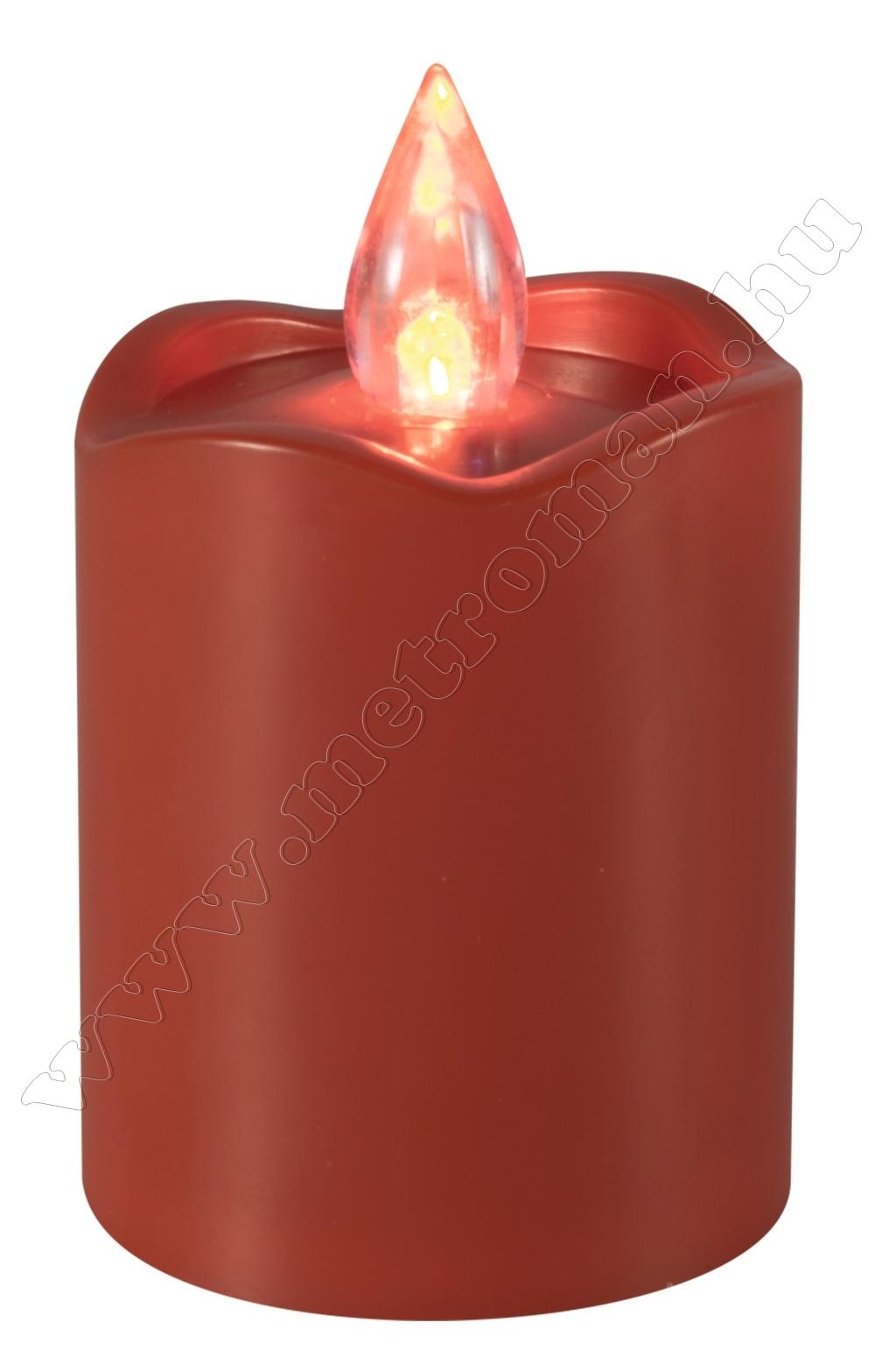 Ledes gyertya piros CDX 2/RD