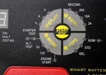 Intelligens, automata akkumulátortöltő, indítás rásegítő funkcióval, CH611