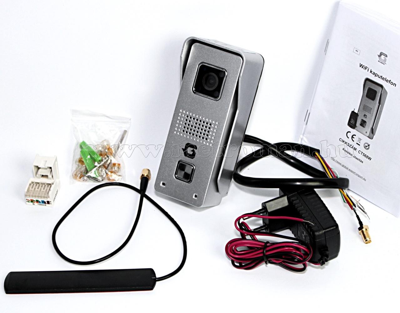Vezeték nélküli, Wifi, Android, iOS Okos Video kaputelefon CT568W