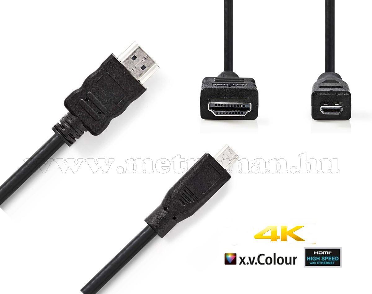 Nagysebességű HDMI - micro HDMI kábel, 2 méter CVGP34700BK20