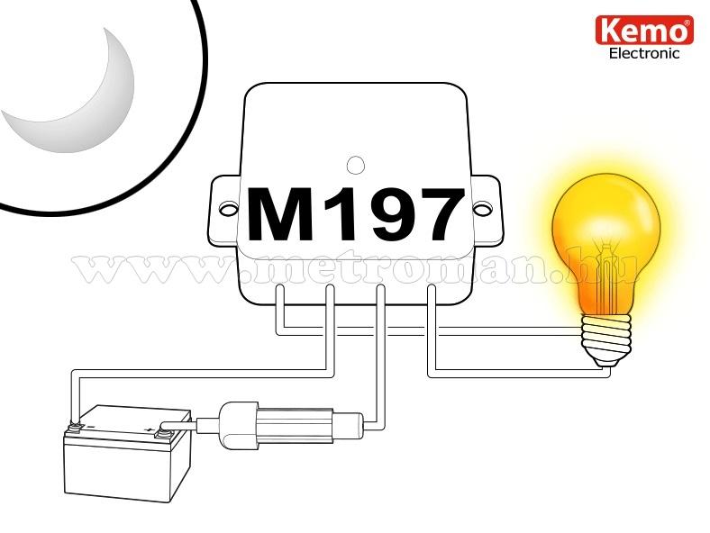 Sötétedéskapcsoló, Alkonykapcsoló DC 12-28 Volt Kemo M197