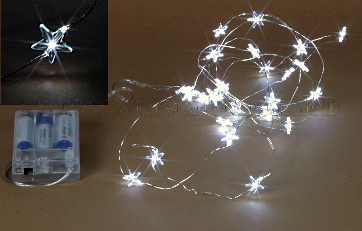 Elemes Csillag LED Fényfüzér, DCTX25/STAR