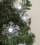 Hópehely dekorációs szett, karácsonyi LED fényfüzérhez Deco1