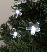 Virág dekorációs szett karácsonyi LED fényfüzérhez, Deco7