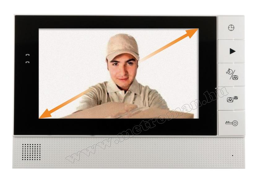 Video kaputelefon LCD beltéri egység SAL DPV 25B